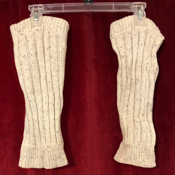 Cozy cable-knit leg warmers